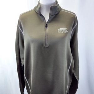 Nike Golf XXL Therma Pullover Taupe Green/Gray 1/4